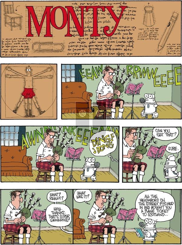 Monty on Sunday October 7, 2018 Comic Strip