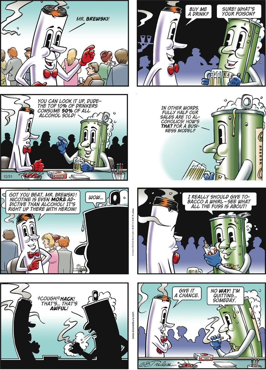 Doonesbury for Dec 31, 2017 Comic Strip