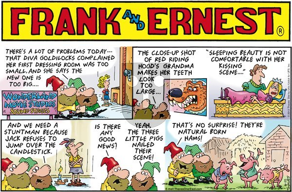 Frank and Ernest on Sunday June 10, 2012 Comic Strip