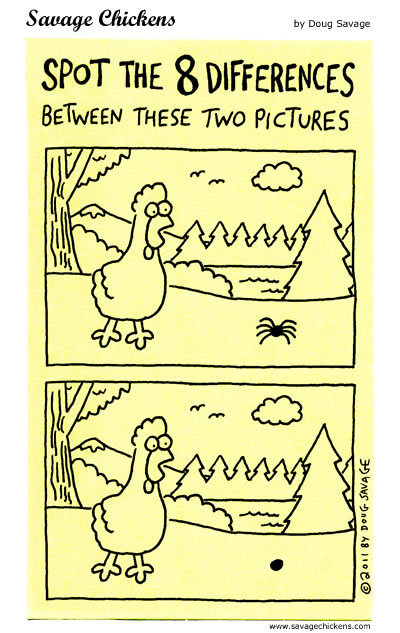 Spot the 8 differences between these two pictures