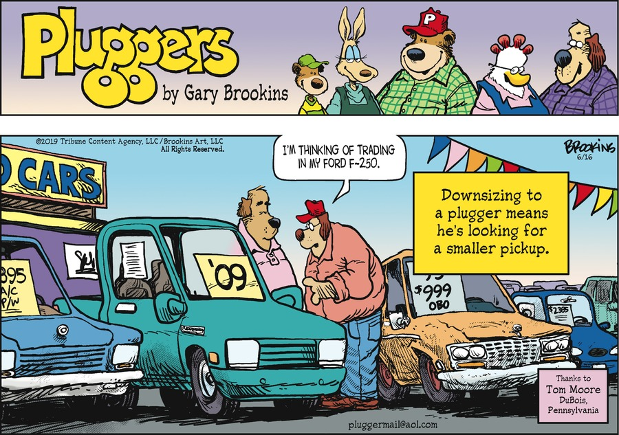 Pluggers Comic Strip for June 16, 2019