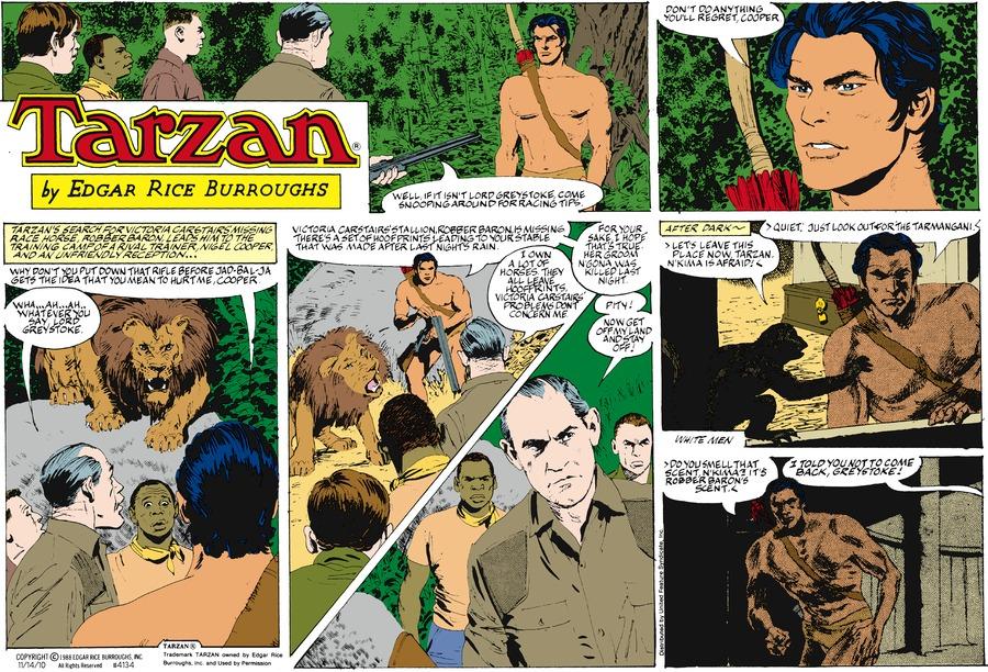 Tarzan for Nov 14, 2010 Comic Strip