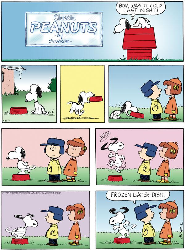 Peanuts Comic Strip for February 23, 1964