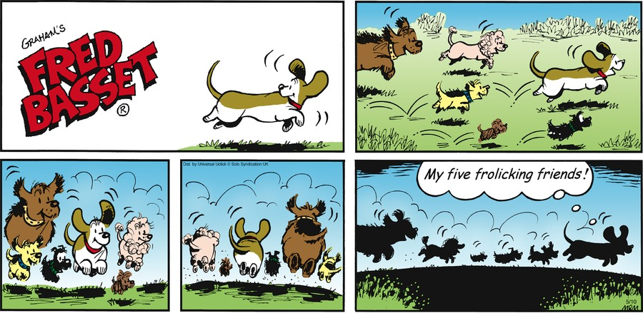 Fred Basset Comic Strip for May 10, 2015