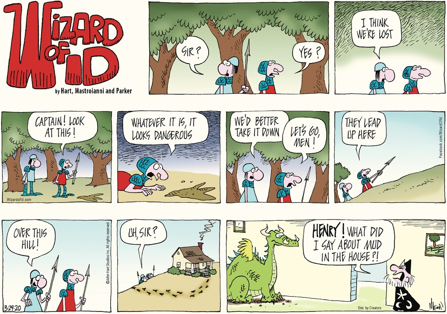 Wizard of Id Comic Strip for March 29, 2020