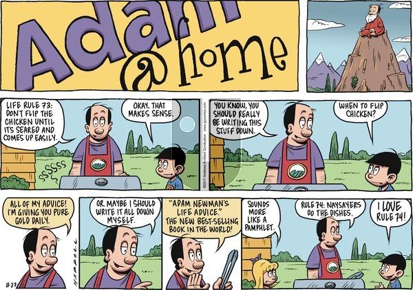 Adam@Home on Sunday August 27, 2017 Comic Strip