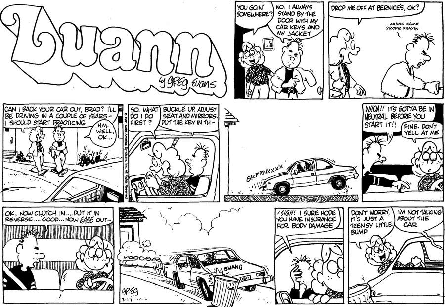 Luann Againn by Greg Evans for March 17, 2019