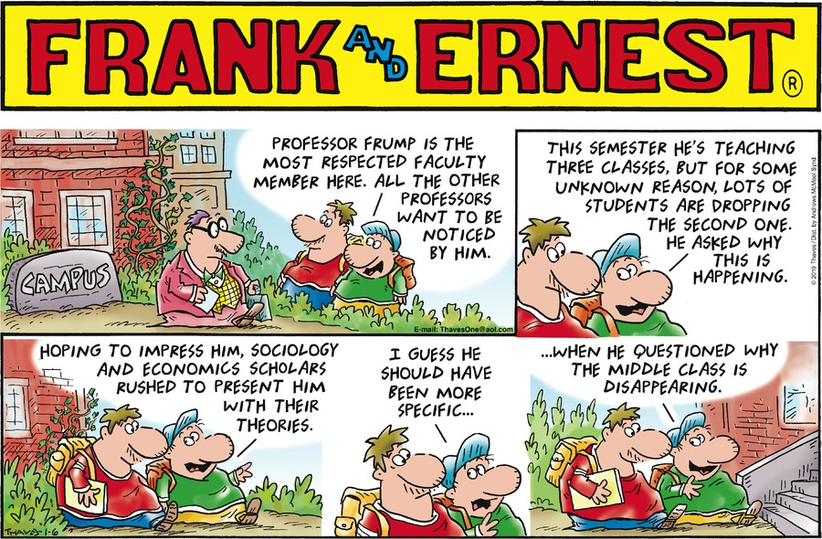 Frank and Ernest Comic Strip for January 06, 2019