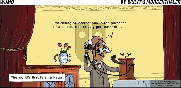WuMo on Sunday July 8, 2018 Comic Strip