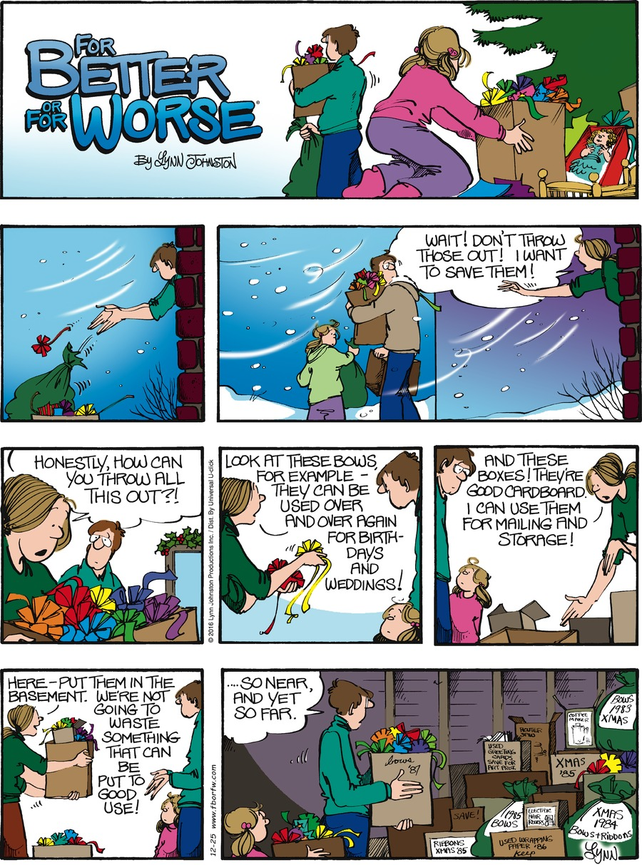 For Better or For Worse Comic Strip for December 25, 2016