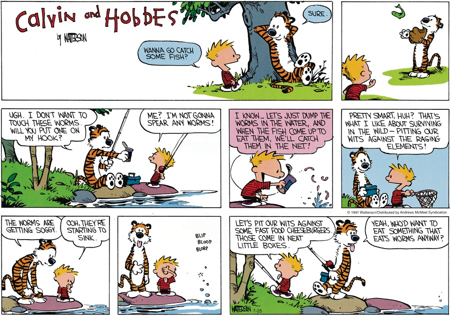 Calvin and Hobbes Comic Strip for July 25, 2021