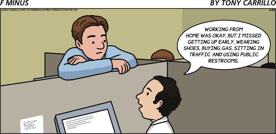 F Minus Comic Strip for April 25, 2021