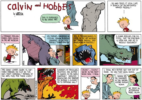 Calvin and Hobbes on Sunday May 17, 1987 Comic Strip
