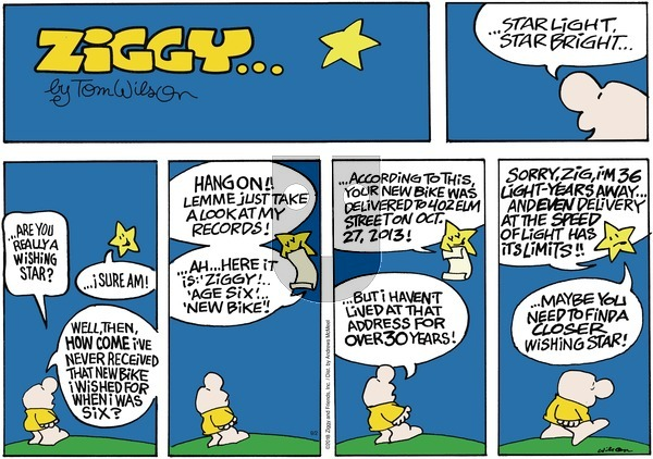 Ziggy on Sunday September 2, 2018 Comic Strip