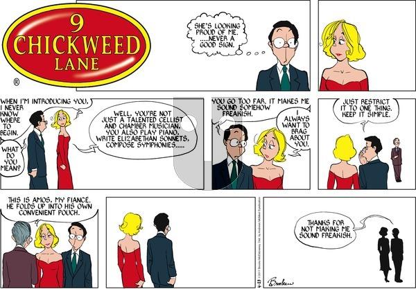 9 Chickweed Lane on Sunday April 23, 2017 Comic Strip