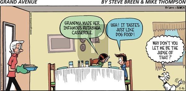 Grand Avenue on Sunday August 16, 2015 Comic Strip