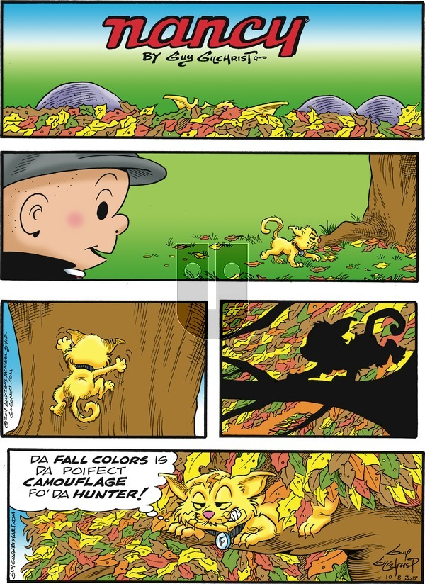 Nancy on Sunday October 8, 2017 Comic Strip
