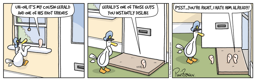 Ollie and Quentin for Dec 22, 2012 Comic Strip