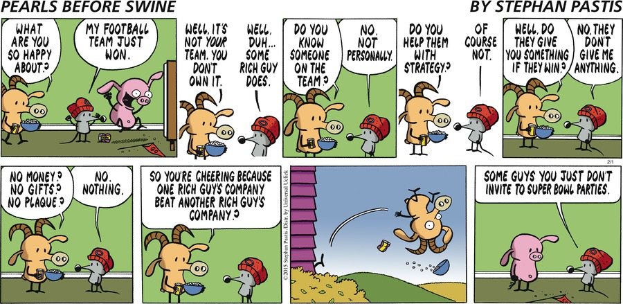 Pearls Before Swine Comic Strip for February 01, 2015