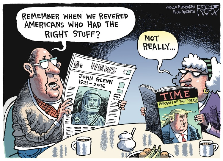 Rob Rogers Comic Strip for December 11, 2016