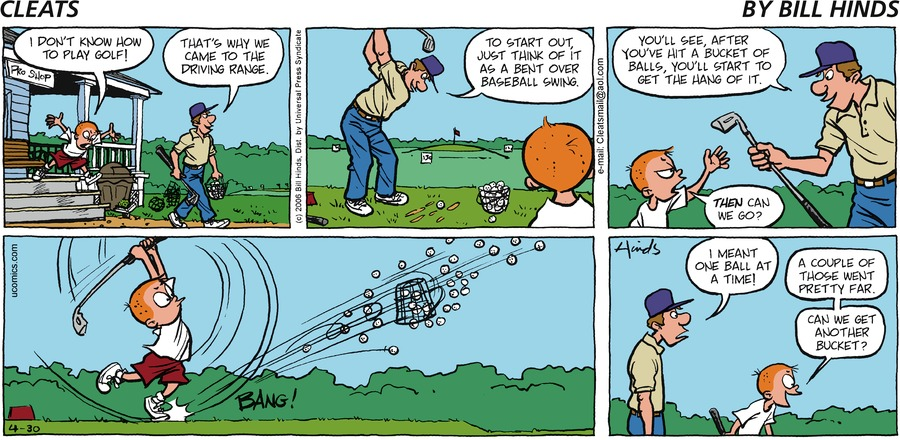 Cleats Comic Strip for April 30, 2006