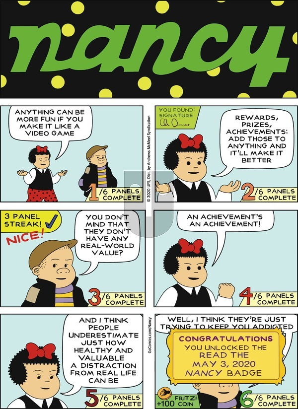 Nancy on Sunday May 3, 2020 Comic Strip