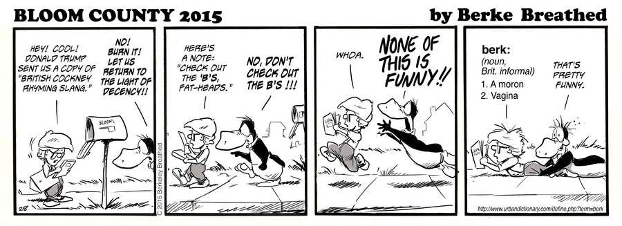 Bloom County 2018 for Aug 24, 2015 Comic Strip