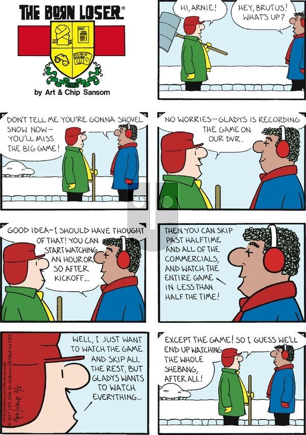 The Born Loser on Sunday February 5, 2017 Comic Strip
