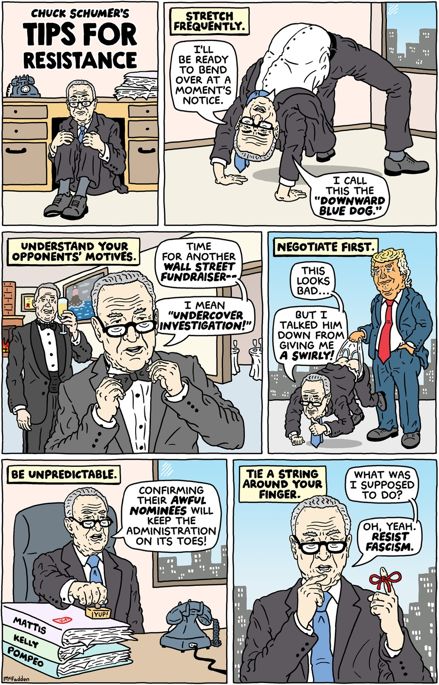 Brian McFadden for Jan 29, 2017 Comic Strip