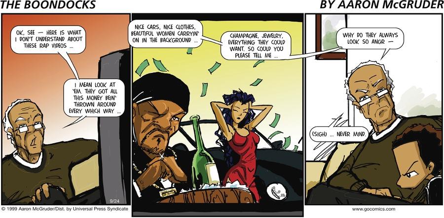 The Boondocks for Sep 24, 2006 Comic Strip
