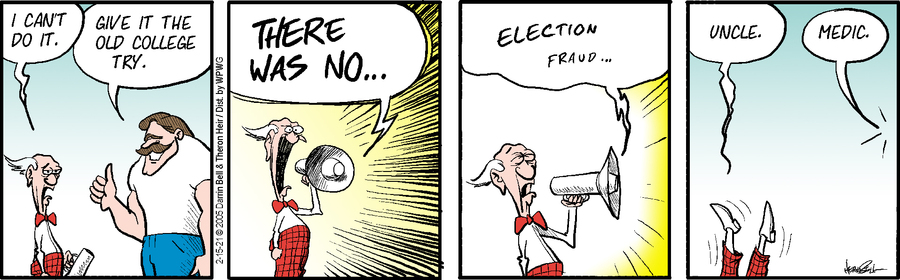 Rudy Park Comic Strip for February 15, 2021