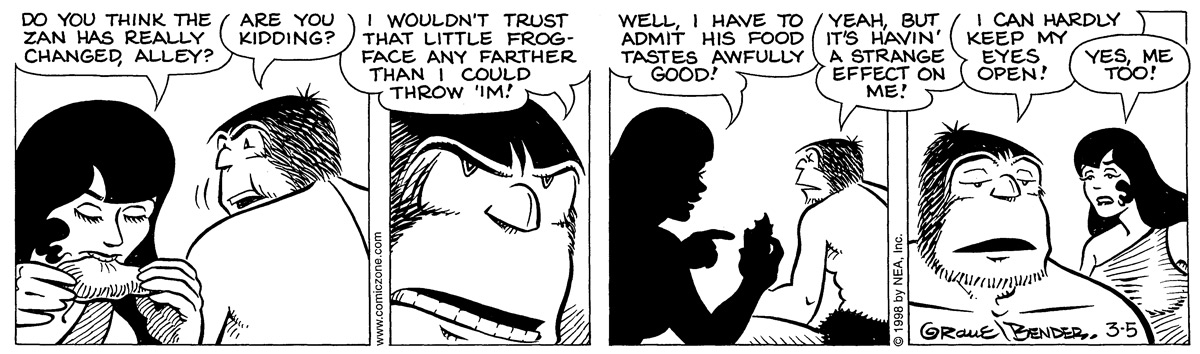 Alley Oop for Mar 5, 1998 Comic Strip