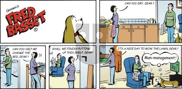 Fred Basset on Sunday November 8, 2020 Comic Strip
