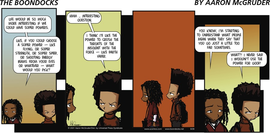 The Boondocks Comic Strip for December 09, 2018