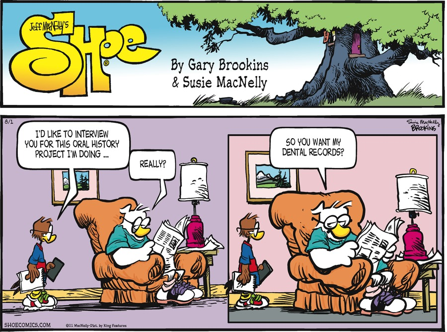Shoe Comic Strip for August 01, 2021