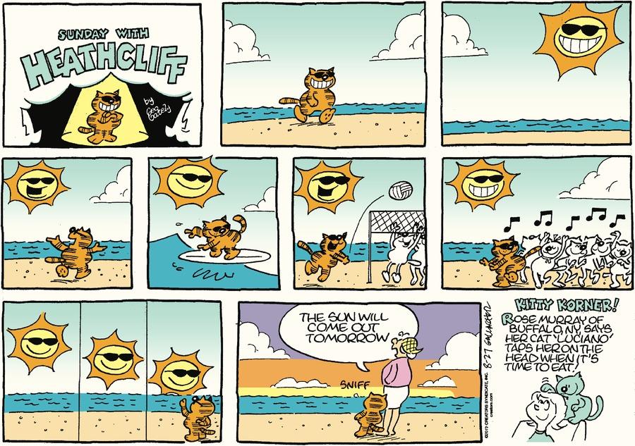 Heathcliff Comic Strip for August 27, 2017