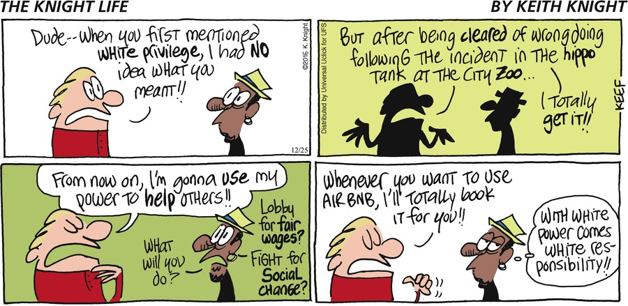 The Knight Life Comic Strip for December 25, 2016