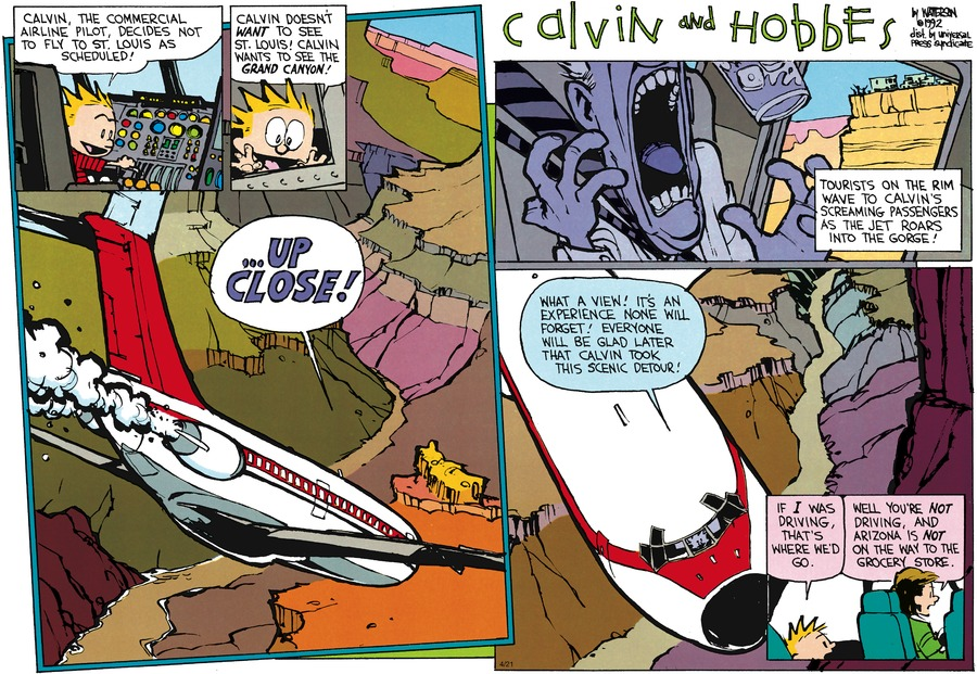 Calvin and Hobbes Comic Strip for June 07, 1992