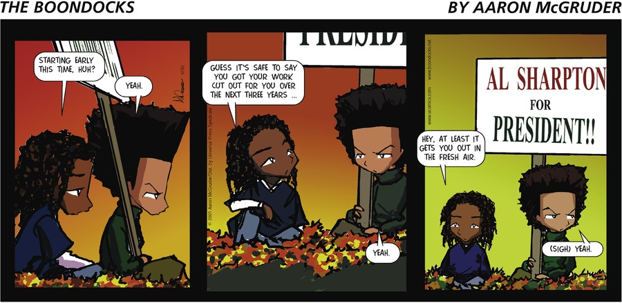 The Boondocks Comic Strip for September 30, 2001