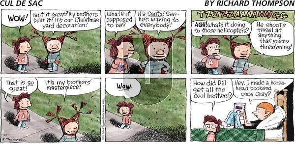 Cul de Sac on Sunday December 6, 2015 Comic Strip