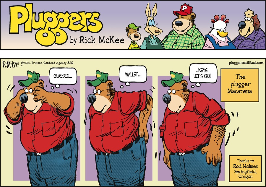 Pluggers Comic Strip for August 22, 2021
