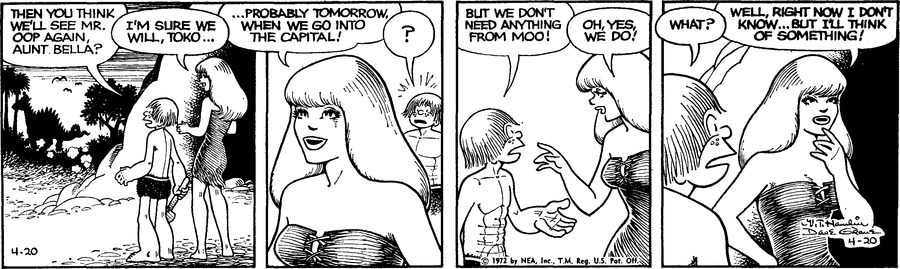Alley Oop Comic Strip for April 20, 1972