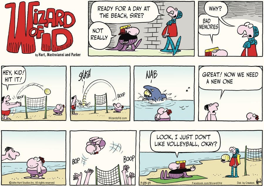 Wizard of Id Comic Strip for July 25, 2021