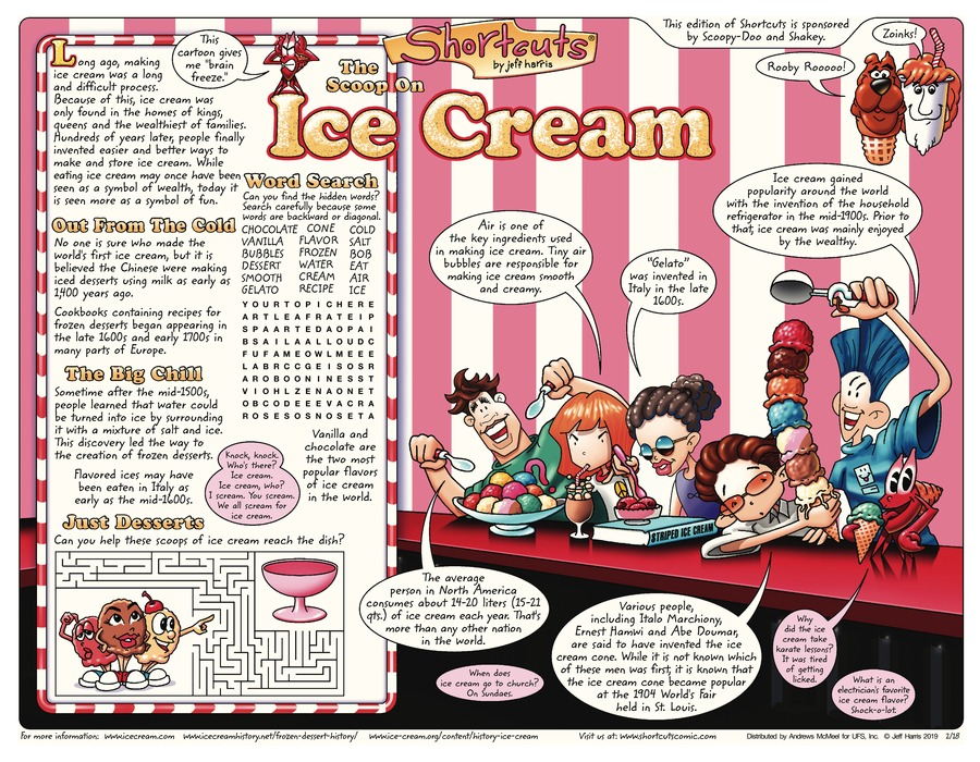 Shortcuts Comic Strip for February 17, 2019