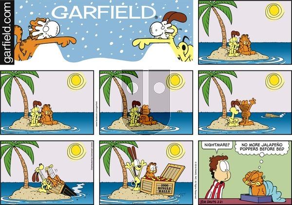 Garfield - Sunday February 21, 2016 Comic Strip