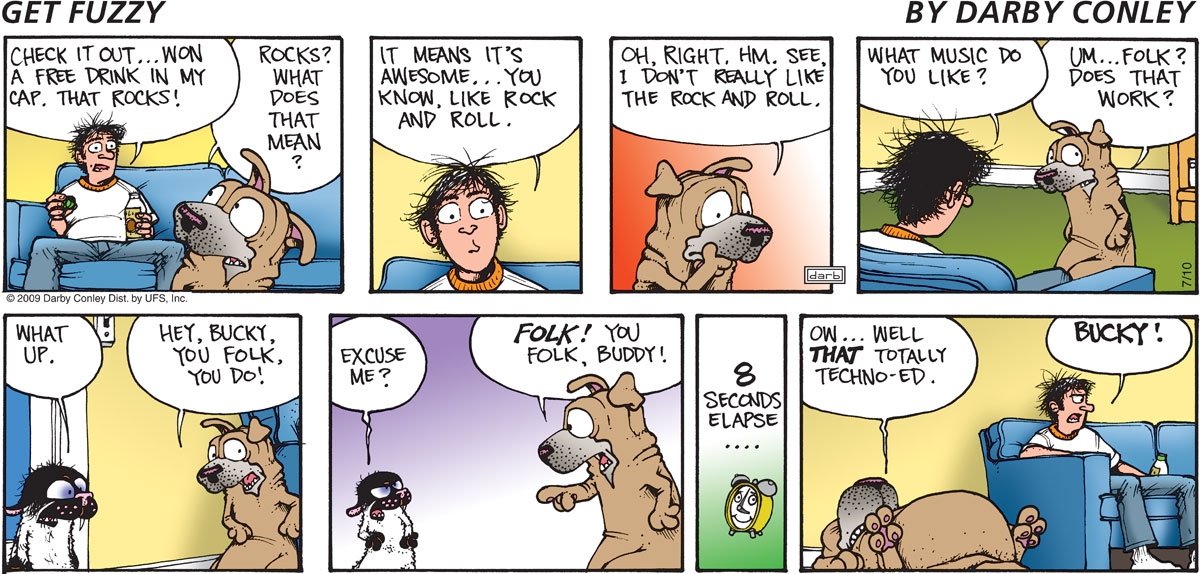 Get Fuzzy Comic Strip for July 10, 2011