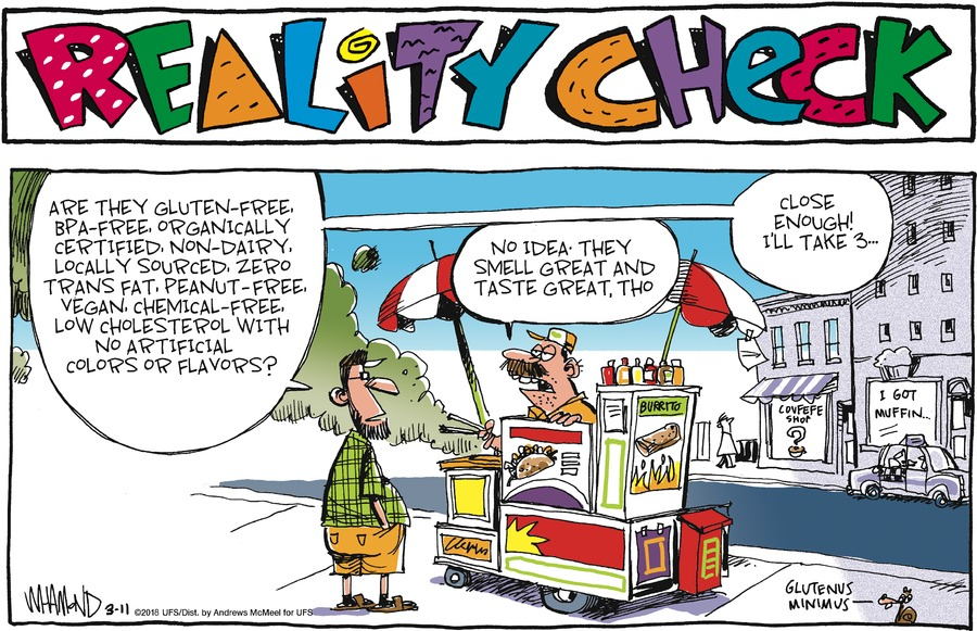 Reality Check Comic Strip for March 11, 2018