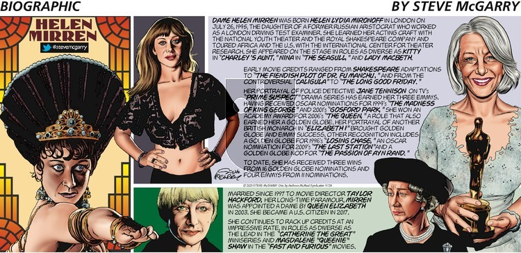 Biographic on Sunday April 25, 2021 Comic Strip
