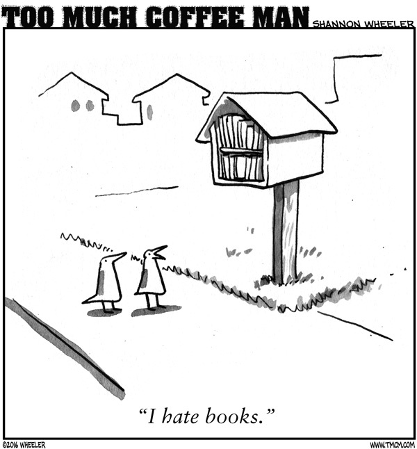 Too Much Coffee Man Comic Strip for September 07, 2016