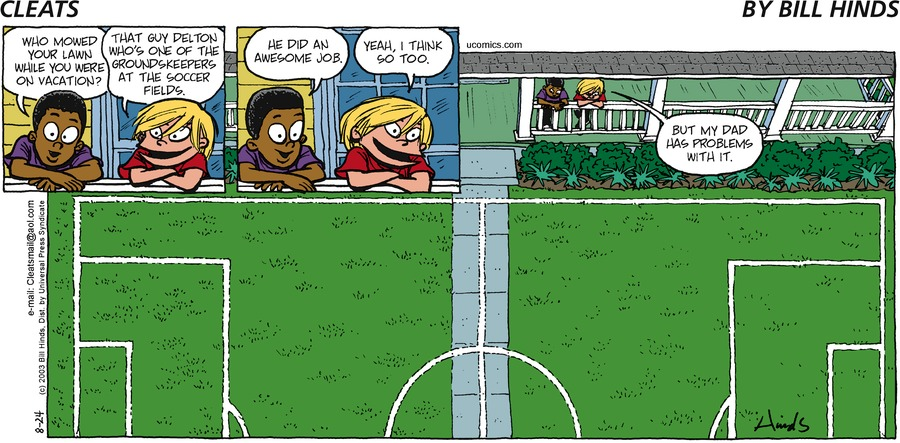 Cleats Comic Strip for August 02, 2021